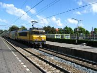 Double deck stock is propelled out of Hoorn station.<br><br>[Michael Gibb&nbsp;18/05/2008]