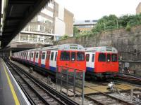 London Underground <I>C Stock</I>, stabled at Edgware Road sidings in September 2008.<br><br>[Michael Gibb&nbsp;12/09/2008]