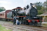 <I>The Rattler</I> receiving attention on the Mary Valley Railway, Kandanga, Queensland, in June 2005.<br><br>[Colin Miller&nbsp;15/06/2005]