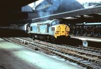 A class 37 stands at Newcastle Central in 1984 with an excursion train.<br><br>[Colin Alexander&nbsp;//1984]