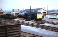Hexham goods yard with a class 31 shunting circa 1984.<br><br>[Colin Alexander&nbsp;//1984]
