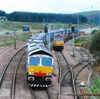 <I>Eddie the Engine</I> chuckled as he sped north over Beattock Summit past his friend 60012 on a permanent way train. [<I>Hmphhh!...flash git</I>...thought 60012...]<br><br>[Ewan Crawford 02/09/2008]