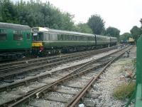 Class 117 DMMU at Alresford Station on the LSWR Watercress Line in September 2008.<br><br>[Alistair MacKenzie 18/09/2008]