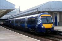 New ScotRail livery sported by 170 434 at Abroath on 25 September 2008.<br><br>[Sandy Steele&nbsp;25/09/2008]