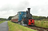 The last train of the day on the Bushmills and Giants Causeway Railway climbs towards Causeway station on 5 August behind locomotive no 3 <I>Shane</I>.<br><br>[Bill Roberton&nbsp;05/08/2008]