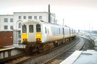 456 leaving Belfast Yorkgate in 1993. Station opened the previous year.<br><br>[Bill Roberton&nbsp;//1993]