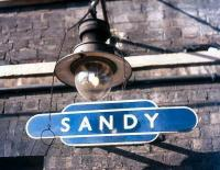 Operational gas lamp on the old <i>up</i> platform at Sandy in 1982.<br><br>[Ian Dinmore&nbsp;//1982]