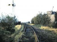 Trinity October 1985 looking northwest towards Trinity Bridge just before line lifted.<br><br>[David Panton&nbsp;/10/1985]
