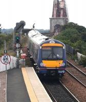 ScotRail 170461 takes a Fife Circle service away from North Queensferry towards The Forth Bridge on 8 September 2008. Subsequently used as the front cover of the October 2008 issue of <I>Modern Railways</I> magazine.<br><br>[John Furnevel&nbsp;08/09/2008]