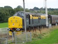 37175 in interesting intercity livery seen approaching Boness on 27th September as part ot the SRPS autumn diesel gala.<br><br>[Brian Forbes&nbsp;27/09/2008]