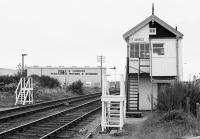 Forres signalbox (formerly Forres East) looking to Aberdeen.<br><br>[Bill Roberton&nbsp;//199X]
