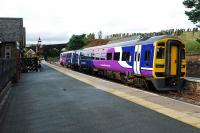 A rather colourful southbound train at Dent.<br><br>[Ewan Crawford 02/09/2008]