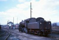 Standard class 4 2-6-0 no 76113 stands outside Beattock shed (behind camera) in the Summer of 1966 with Beattock North box in the background. 76113 was a Carstairs locomotive at this stage in its life.<br><br>[A Snapper (Courtesy Bruce McCartney)&nbsp;//1966]