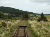 Drivers eye view of the approach to the site of Dulnain Bridge on 10 October 2008. [With kind permission of the Strathspey Railway.]<br><br>[John Gray&nbsp;10/10/2008]