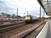 DVT 82218 leads a Kings Cross service over the Scarborough line crossover and into York from the north. The Yorkshire Wheel and National Railway Museum are on the opposite side of the line in this view from Platform 4.<br><br>[Mark Bartlett&nbsp;11/10/2008]