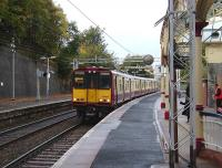 A Gourock - Glasgow Central service pulls into Port Glasgow on 15 October 2008 formed by 314 210.<br><br>[David Panton&nbsp;15/10/2008]