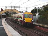 334 016 leaves Fort Matilda on 15 October 2008 on the final leg of its journey from Glasgow Central to Gourock. <br><br>[David Panton&nbsp;15/10/2008]