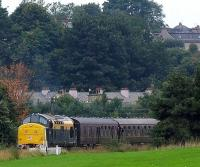 37175 approaching Boness outer home signal with a diesel gala train.<br><br>[Brian Forbes&nbsp;//2008]