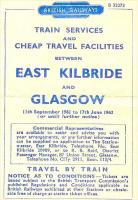 Cover of a BR 1961/62 East Kilbride - Glasgow timetable.<br><br>[Gus Carnegie&nbsp;//1962]
