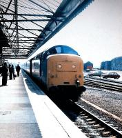 Berwick-upon-Tweed with a Finsbury Park Deltic racehorse on a northbound service in the Summer of 1978.<br><br>[John Alexander&nbsp;//1978]