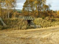Between Grantown-on-Spey East and Nethy Bridge the trackbed is now a walkway. This timber structure supported on two metal girders replaces the original bridge over a cattle creep just south of Grantown.<br><br>[John Gray&nbsp;22/10/2008]