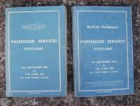 BR Scottish Region timetables covering Winter 1960/61 and Winter 1964/5.<br><br>[David Panton&nbsp;//]