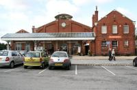 The station building at Bridlington seen looking south from the car park on 1 October 2008.<br><br>[John Furnevel&nbsp;01/10/2008]