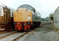 D200 runs round the stock of <i>The Hadrian Pullman</i> at Warcop on 31 July 1983.<br><br>[Colin Alexander&nbsp;31/07/1983]
