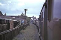 Class J37 No 64569 passing through Guard Bridge station en route to St Andrews in August 1965 with the RCTS <I>Fife Coast Railtour</I>.<br><br>[G W Robin&nbsp;28/08/1965]