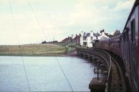 64569 takes a train over the River Eden estuary at Guard Bridge in August 1965 on its way from Leuchars Junction to St Andrews.<br><br>[G W Robin&nbsp;28/08/1965]
