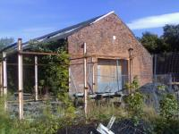 Part of the remains of the former Ferryhill shed on 5 November 2008. <br><br>[John Crouch&nbsp;05/11/2008]