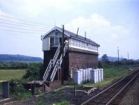 The signal box at Wrawby Junction, Lincolnshire, in 1989, looking east towards Immingham.<br><br>[Ian Dinmore&nbsp;//1989]