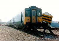 Prototype DEMU 210 001 on display at an Open Day at Upperby in September 1982. Intended as an eventual replacement for elderly Southern Region units the train was trialled in various parts of the country but never made it into full production and was eventually withdrawn.<br><br>[Colin Alexander&nbsp;12/09/1982]