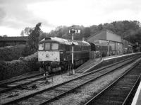 33202 stabled in the bay at Bishops Lydeard station on the West Somerset Railway in May 2007.<br> <br><br>[Peter Todd 13/05/2007]
