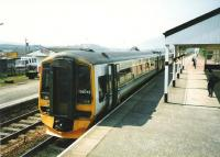 Inverness bound 158 712 at Kingussie in May 1998.<br><br>[David Panton&nbsp;11/05/1998]