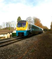 175009 on an Arriva Trains Wales southbound service approaching Abergavenny on 19 November.<br> <br><br>[John McIntyre&nbsp;19/11/2008]