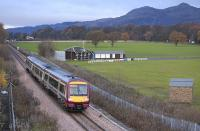 170 477 with the 1041 service to Glasgow Queen Street on 19 November passing Alloa Cricket Club with Dumyat Hill dominating the background.<br><br>[Bill Roberton&nbsp;19/11/2008]