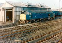 Ex-Cunarder 40 024, the former <I>Lucania</I>, stands at Gateshead shed in 1983.<br><br>[Colin Alexander&nbsp;//1983]