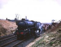 B1 61342 stands at Muirkirk with <I>Scottish Rambler no 5</I> on 10 April 1966.<br><br>[Robin Barbour Collection (Courtesy Bruce McCartney)&nbsp;10/04/1966]