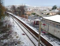 The appropriately named Branchton, photographed on a freezing 29 November 2008 looking west towards Wemyss Bay. A Spartan location, as with all intermediate stations on this branch.<br><br>[David Panton&nbsp;29/11/2008]