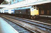 25044 with an exhibition train at Shrewsbury on 10 June 1983.<br><br>[Colin Alexander&nbsp;10/06/1983]