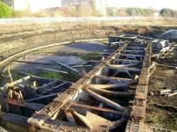 View south over the remains of the turntable at Perth New Yard in November 2008. <br><br>[Gary Straiton&nbsp;/11/2008]