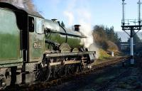 7903 <I>Foremarke Hall</I> running round at Winchcombe on the Gloucestershire Warwickshire Railway on 7 December with one of the GWR <I>Santa Specials</I> .<br><br>[Peter Todd&nbsp;07/12/2008]