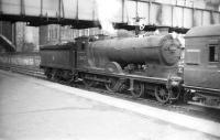Reid ex-NBR 4-4-0 62493 <I>Glen Gloy</I> at the north end of Aberdeen station in July 1958. Withdrawn from 61A Kittybrewster in June 1960, the locomotive met its end at Inverurie works 4 months later.<br> <br><br>[Robin Barbour Collection (Courtesy Bruce McCartney)&nbsp;29/07/1958]
