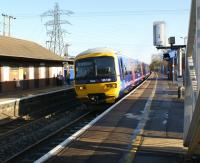 DMU 165129 calls at Thatcham station on 6 Dec 2008 with a Reading - Newbury service.<br> <br><br>[John McIntyre&nbsp;06/12/2008]