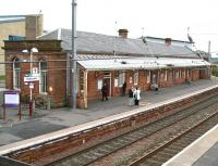 The substantial building on the Glasgow bound platform of the 1882 Saltcoats station in May 2007.<br><br>[John Furnevel&nbsp;17/05/2007]
