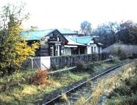 Tracklifting is imminent in this view south from Trinity station in October 1985.<br><br>[David Panton&nbsp;26/10/1985]