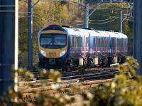 First TransPennine 185117 heads away from the camera as it takes the Chorley line from the Up Fast WCML at Euxton Junction with a service to Manchester Airport on 1 November 2008.<br><br>[John McIntyre&nbsp;01/11/2008]