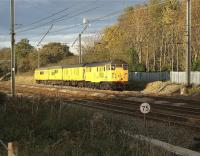 A Network Rail test train is hauled south along the Up Fast approaching Euxton Junction on 1 November 2008 behind 31105.<br> <br><br>[John McIntyre&nbsp;01/11/2008]