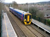 Heading south west from Bristol for Weston-super-Mare is First Great Western 158767, photographed at Nailsea and Blackwell on 22 December 2008.  <br><br>[Peter Todd&nbsp;22/12/2008]
